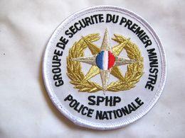 ECUSSON DE LA POLICE NATIONALE LE SPHP GSPM GROUPE SECURITE PREMIER MINISTRE SUR VELCROS ETAT EXCELLENT - Insegne