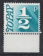 "GB....QUEEN ELIZABETH II.(1952-NOW.)..."" 1970..""....HALFp.......POSTAGE DUE.......SGD077.......MARGINAL.....MNH. - Tasse"