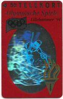 Denmark - TS - Olympic Games Hologram Cards - Downhill - TDTP030 - 02.94, 6.000ex, Used - Denmark