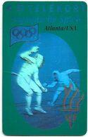 Denmark - TS - Olympic Games Hologram Cards - Fencing - TDTP007 - 08.93, 11.000ex, Used - Denmark