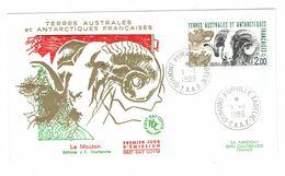 French Antarctic T.A.A.F. Domestic Farm Animals - FDC 1989 - Ferme