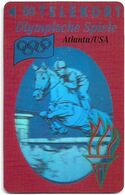 Denmark - TS - Olympic Games Hologram Cards - Horse Jumping - TDTP008 - 08.93, 11.000ex, Used - Denmark