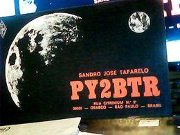 QSL CARD OSASCO SAU PAULO BRASlL LUNA   V1987 HQ10051 - Cartes QSL
