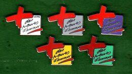 5 Pin's Les Preuves D'Amour Zamac Arthus Bertrand - Pin