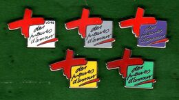 5 Pin's Les Preuves D'Amour Zamac Arthus Bertrand - Pin's & Anstecknadeln