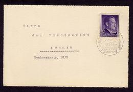 DR Generalgouvernement Briefkarte ZAKOPANE - Lublin - 5.-6.9.1942 - Mi.75 - Deutschland
