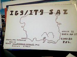 QSL CARD VILLAFRANCA SICULA  RADIO AMATORE    V1991 HQ10056 - Radio Amateur