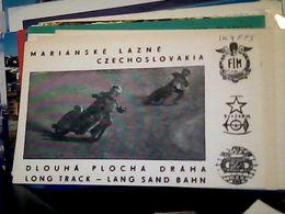 QSL CARD Marianske_Lazne MOTO Speedway Marianske_Lazne  RADIO AMATORE    V1991 HQ10057 - Radio Amateur