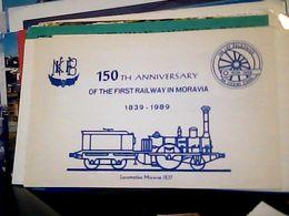 QSL CARD CZECHOSLOVAKIA  RADIO AMATORE 150 ANN. FIRST RAYLWAY IN MORAVIA LOCOMOTIVA LOCOMOTION 1837   V1989 HQ10058 - Radio Amateur