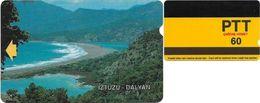 Turkey - Alcatel - PTT - 3rd Series (15mm) 1991-1992, T-05 - Iztuzu - Dalyan, 60U, Used - Turquie