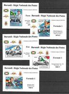 Burundi 2012 Race Cars - Formula 1 Drivers 5 MS MNH - Zonder Classificatie