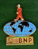 Pin's ASC BNP Mappemonde Zamac  Ballard - Pin