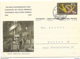 """57 -  80 - Entier Postal  """"100 Ans Postes Fédérales"""" Cachet à Date Wil - Zonder Classificatie"""