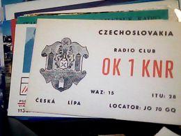 QSL CARD CZECHOSLOVAKIA  RADIO AMATORE CESKA LIPA   V1985 HQ10059 - Cartes QSL