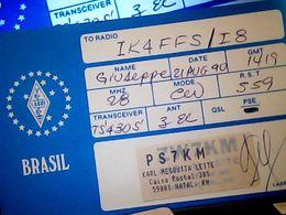 QSL CARD   RADIO AMATORE NATAL  BRASIL V1990 HQ10061 - Cartes QSL