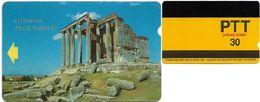 Turkey - Alcatel - PTT - 3rd Series (15mm) 1991-1992, T-23 - Kutahya Zeus Temple, 30U, Used - Turquie
