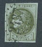 """DP-462: FRANCE: Lot Avec """"BORDEAUX"""" N°39B  Obl  (filet Intact, Pli Au Verso) - 1870 Emission De Bordeaux"""