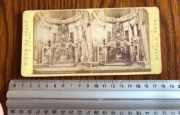 Stereo Photo Vers 1880 Italia Rome La  Basilique Sainte Pierre - Photographie