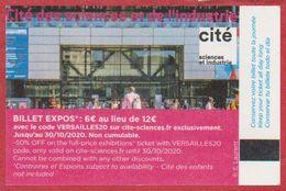 Cité Des Sciences Et De L'industrie. Paris. Visuel: Entrée Du Musée. 2020. - Biglietti D'ingresso