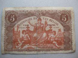5 Frank - 1919 - [ 2] 1831-... : Royaume De Belgique