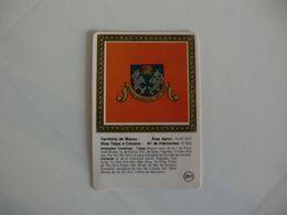Brasão De Armas Das Ilhas Taipa E Coloane Macau Macao Portugal Portuguese Pocket Calendar 1987/1988 - Calendars
