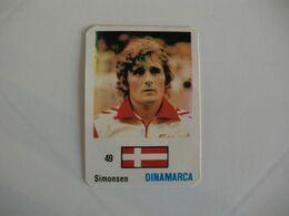 Football Futebol Denmark Simonsen Portugal Portuguese Pocket Calendar 1986 - Calendars