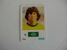Football Futebol Brasil Zico Portugal Portuguese Pocket Calendar 1986 - Calendars