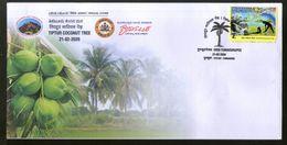 India 2020 Tiptur Coconut Tree Fruit Tumkurpex Special Cover # 18654  Inde Indien - Frutta
