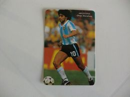 Football Futebol Argentina Diego Maradona Portugal Portuguese Pocket Calendar 1986 - Formato Piccolo : 1981-90