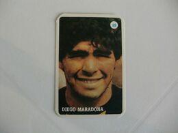 Football Futebol Diego Maradona Portugal Portuguese Pocket Calendar 1986 - Calendars
