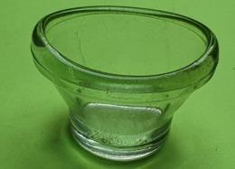 Ancien RINCE ŒIL En Verre - Environ H : 3.5 Cm ; Ovale 5 X 3 Cm -  Années 1940 - Perfume & Beauty