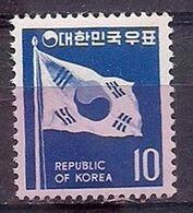 COREA DEL SUR 1969-1970 - SERIE BASICA - BANDERA - YVERT Nº 534A** - Stamps