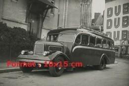 Reproduction Photographie D'un Ancien Bus Pour La Ligne Manche Océan De Vannes à St-Brieuc - Photographie