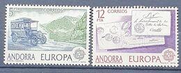 ANDORA HISZPAŃSKA  MNH   1979 MI 123-124  EUROPA - Neufs