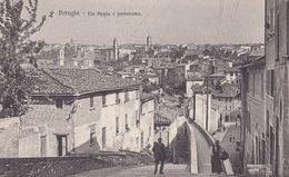 PERUGIA-VIA APPIA E PANORAMA-CARTOLINA  NON VIAGGIATA -ANNO 1910-1920 - Perugia