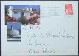 France - Stationery Cover Lighthouse La Tranche Sur Mer - France