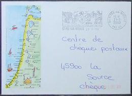 France - Stationery Cover 2002 Franchise Postale Saint Pee Sur Nivelle Windsurf - France
