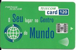 CARTE-PUCE-PORTUGAL-120-SC7-1995-CENTRO DO MUNDO-VERT-V°DN° Rge Série C58152456-UTILISE-TBE- - Unclassified