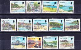 20-053 Jersey 1989 Landscapes Complete Definitives Set Mi 463-475 MNH ** - Jersey