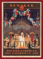 ESPANA - SEVILLA - EXPOSITION IBEROAMERICANA - MAPA DE EXPOSICIONES - 1930 - Publicidad
