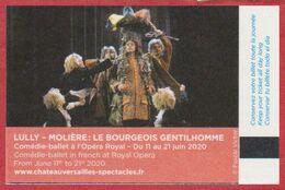 Château De Versailles. Visuel Lully. Molière. Le Bourgeois Gentilhomme. 2020. - Biglietti D'ingresso