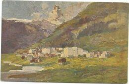 XW 3693 Lodovico Zambeletti - Zermatt Cervino - Dipinto Paint Peinture - Peintures & Tableaux