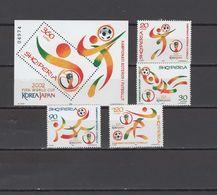 Albania 2002 Football Soccer World Cup Set Of 4 + S/s MNH - 2002 – South Korea / Japan