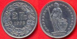 Switzerland Swiss 2 Francs 1993 VF - Suiza