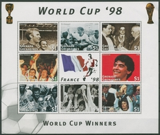 Grenada-Grenadinen 1997 Fußball-WM Frankreich Klbg. 2535/42 K Postfr. (C94471) - Grenada (1974-...)
