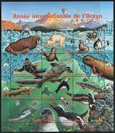 1998 UN Geneva International Year Of The Ocean: Marine Wildlife Of The Polar Regions Minisheet (** / MNH / UMM) - Events & Commemorations