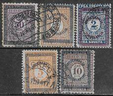 Yugoslavia 1933 Postage Due Mi N.P69-P73 Complete Set US - Postage Due