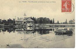 Carte Postale - CPA N°112 ALLIER - VICHY - Vue D'Ensemble Du Golf Et Son Canot Sur L'Allier. - Vichy