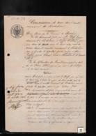 Un Tampon Cachet  Fiscal   50 Cen Reichs-Stempel   Sur Un Acte De Concession Cimetière  Riedisheim 1872 - Revenue Stamps