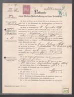 Un Timbre  40 Pf  Stempelmarke  Elsass - Lothringen   Fiscal Taxe  Sur Acte Concession Terrain Cimetière 1910 - Fiscali